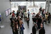 Participants Enjoy the Opening Ceremony in the Foyer of the Humanities Building
