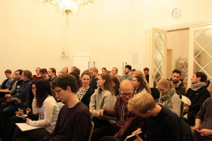 About fifty people attended the talk